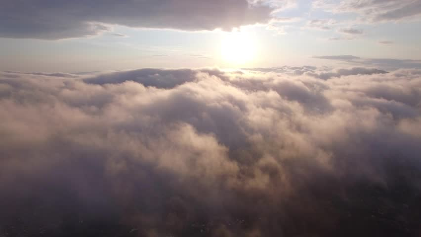 aerial view above the clouds #16882309