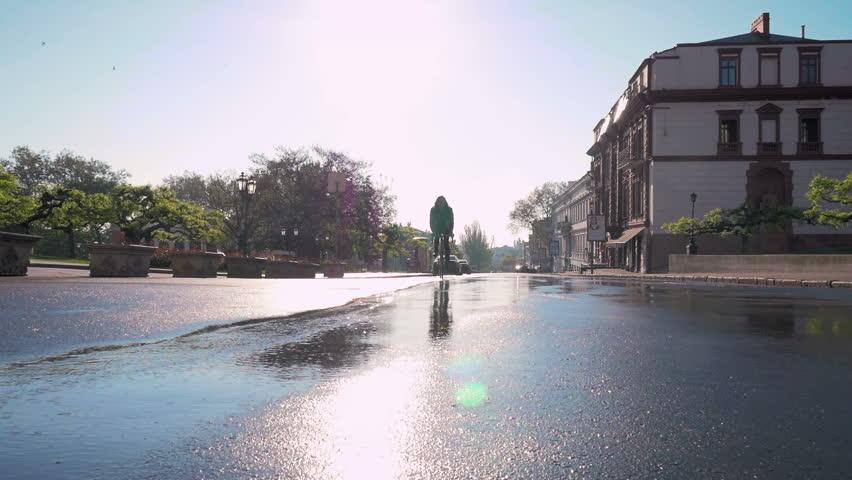 Wet Bike Stock Footage Video Shutterstock