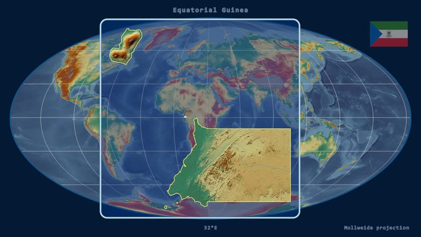 Zoomed in view of a equatorial guinea outline with perspective zoomed in view of a equatorial guinea outline with perspective lines against a global relief gumiabroncs Choice Image