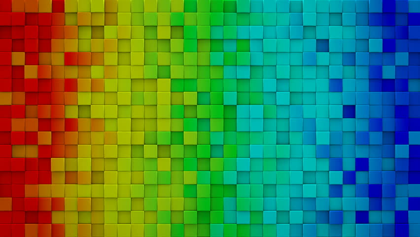Bright rainbow gradient extruded cubes. Geometric 3D render animation. Computer generated seamless loop abstract background 4k UHD (3840x2160)  | Shutterstock HD Video #16954009