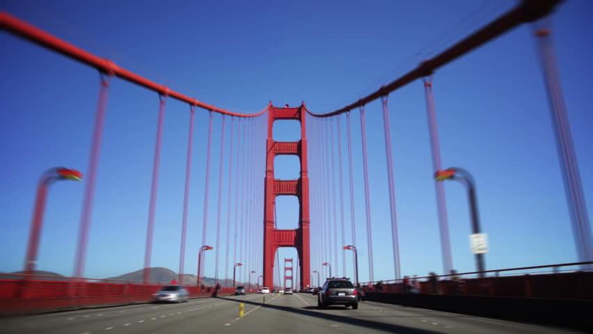 Driving across the golden gate bridge #1698421