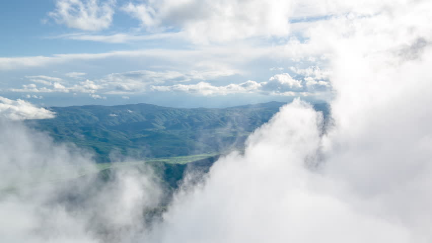 Clouds Covering Mountains Scenic Air Weather Vacation Idyllic Beauty Siberia Travel Nature Footage Beauty Forest Environment Landscape Geology | Shutterstock HD Video #16998937