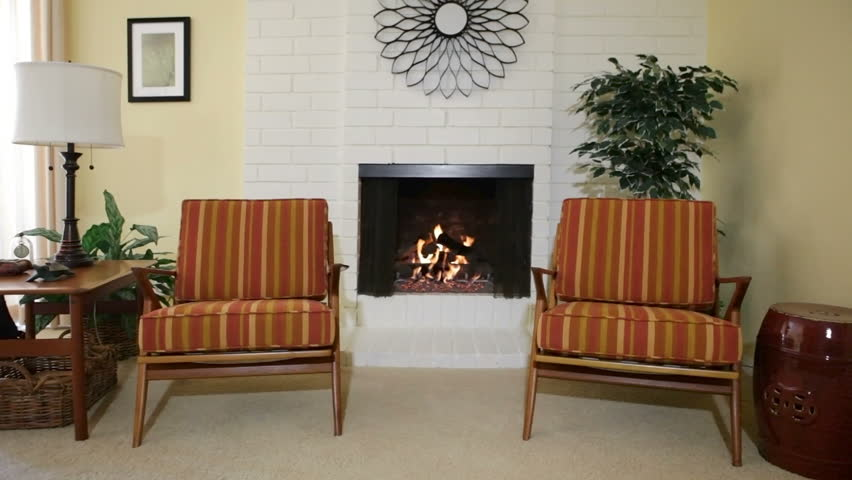 Chairs Next To Fireplace In Residential Home