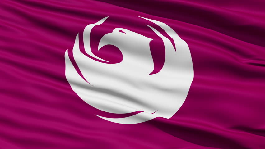 Phoenix Waving American State Capital City Flag Animation