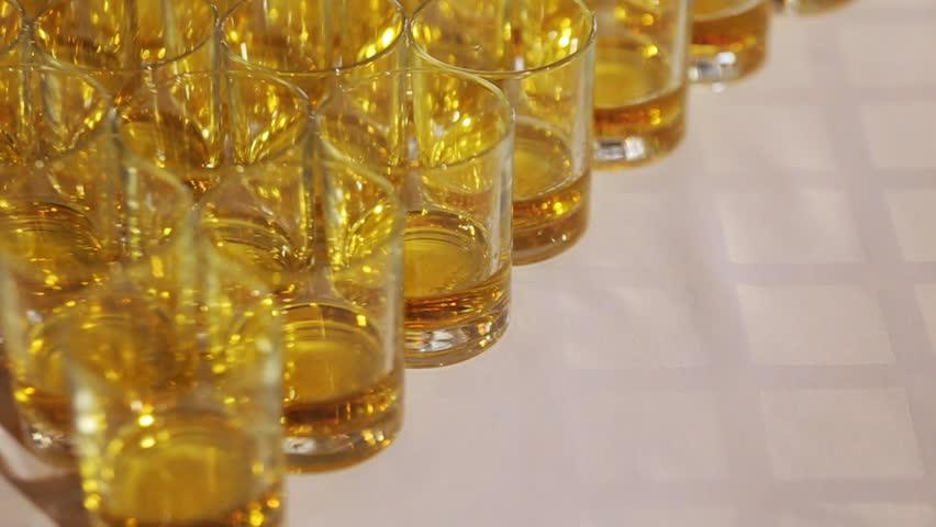 Stock of water glasses closeup | Shutterstock HD Video #17129809