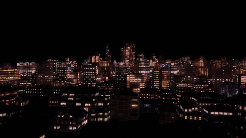 Through City Night Flight #1723534