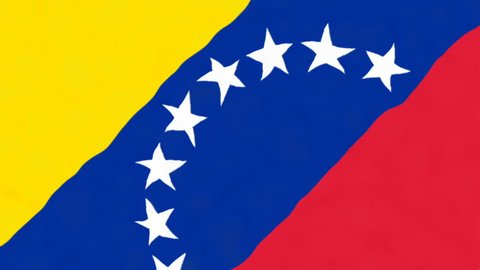 Flag of Venezuela. Official Venezuela flag. Waving Venezuela flag. Copa America