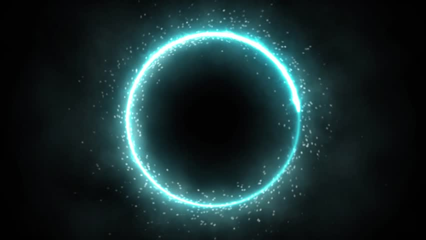 Plasma ring on a dark background. Animation. Abstract background. #17330149