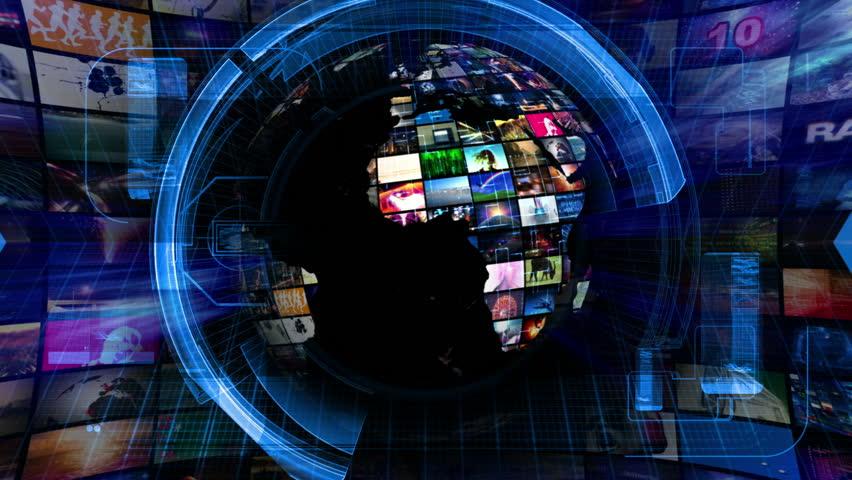 Global News Media Technology Graphics