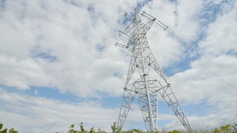 High Voltage Tower with Sky Stock Footage Video (100