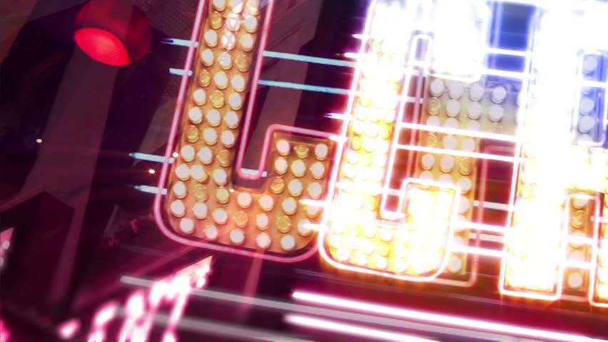Casino Neon Sign with Flashing Light Bulbs   Shutterstock HD Video #1738021