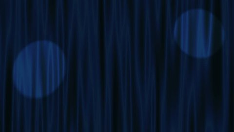 curtain with spot light loop background blue