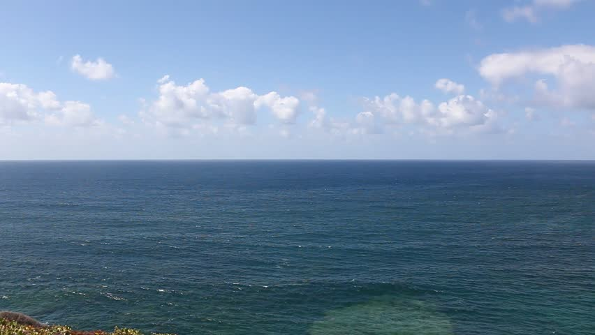 Atlantic Ocean Horizon Sky Clouds Waves Tenerife Canarias