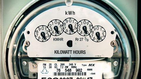 Electricity Meter Time-lapse Loop