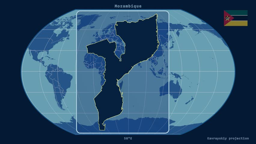 HD Looping Digital Animation Starts With Flat Map Of Earth And - Map of globe