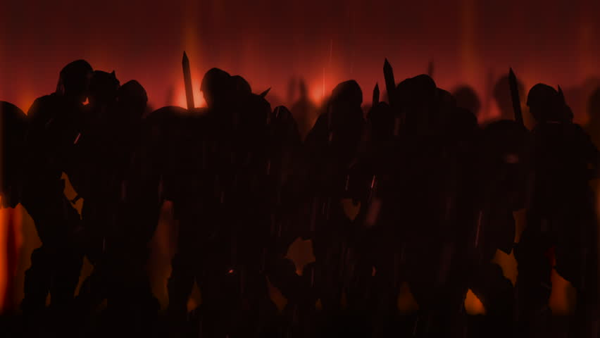 Ancient Warriors/Ancient warriors are fighting in a battle. Animation.