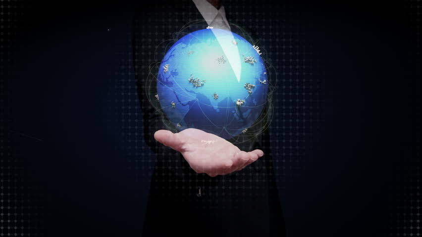 Businesswoman open palms,Growing Global Network communication technology.   Shutterstock HD Video #17475979