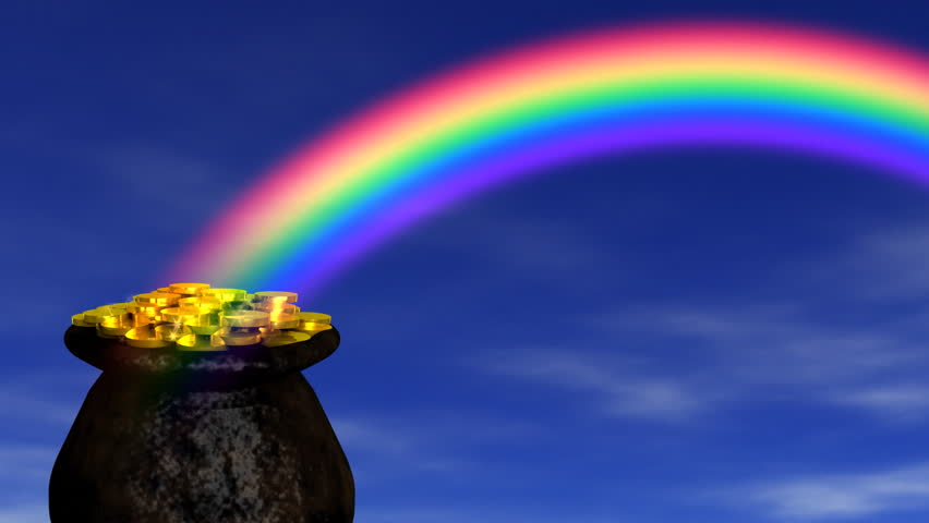 V.3 - Pot Of Gold At The End Of The Rainbow - Blue Sky ...