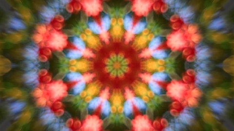 Wonderful abstract kaleidoscopic colored scaly pattern with round dance moving. Excellent animated soft detailed background in full HD clip. Adorable hypnotic visuals for amazing decorative intro.