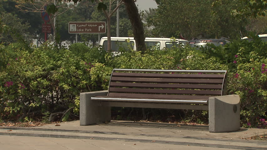 Park Benches Abu Dhabi Cu Stock Footage Video 100 Royalty