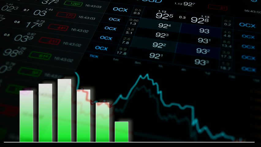 Infographics finance background. Financial background with abstract numbers and chart. Growth graph infographic at numbers background. Forex, stock exchange background. Finance market concept | Shutterstock HD Video #17540599