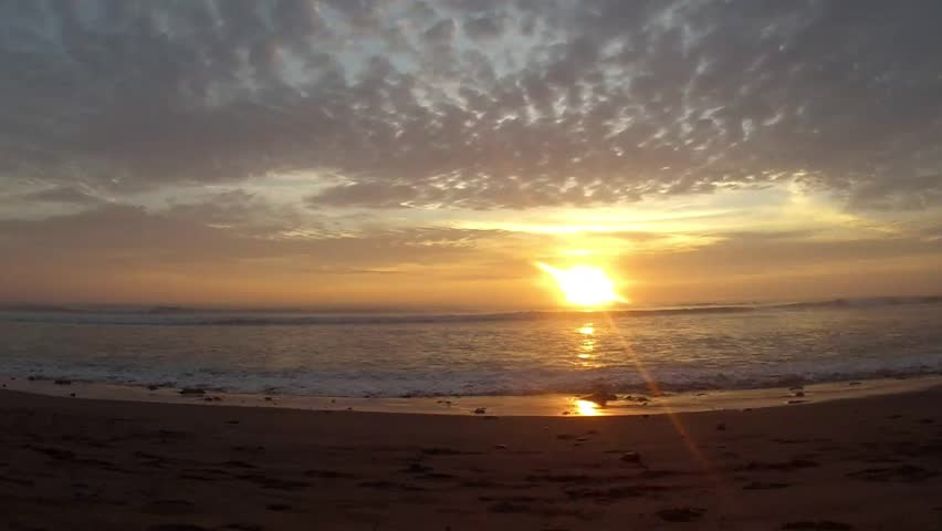 Sunset over the Pacific Ocean, Huanchaco Peru   Shutterstock HD Video #17572279