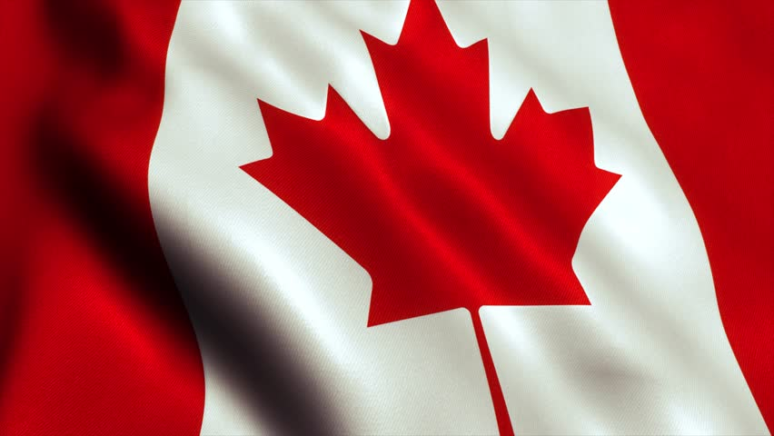Canada Flag. Seamless Looping Animation. 4K High Definition Video