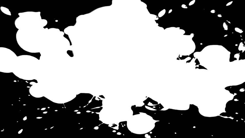 Ink Drop Splatter White On Stock Footage Video (100% Royalty-free) 1757591  | Shutterstock