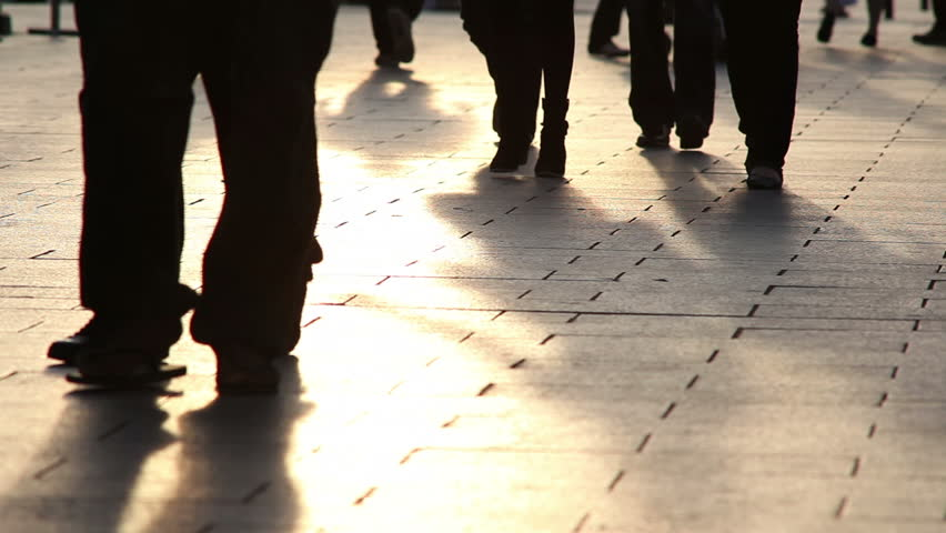 Low angle shot of pedestrians walking | Shutterstock HD Video #1759295