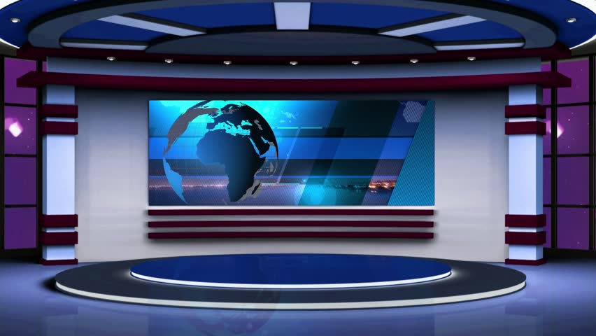 Stock Video Of News Tv Studio Set Virtual 17603569