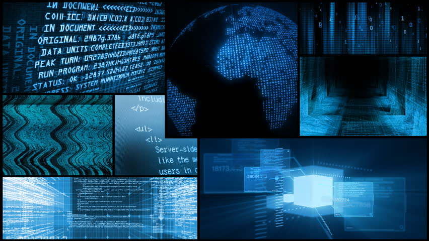 Digital Data Network Global Technology Montage | Shutterstock HD Video #1761569