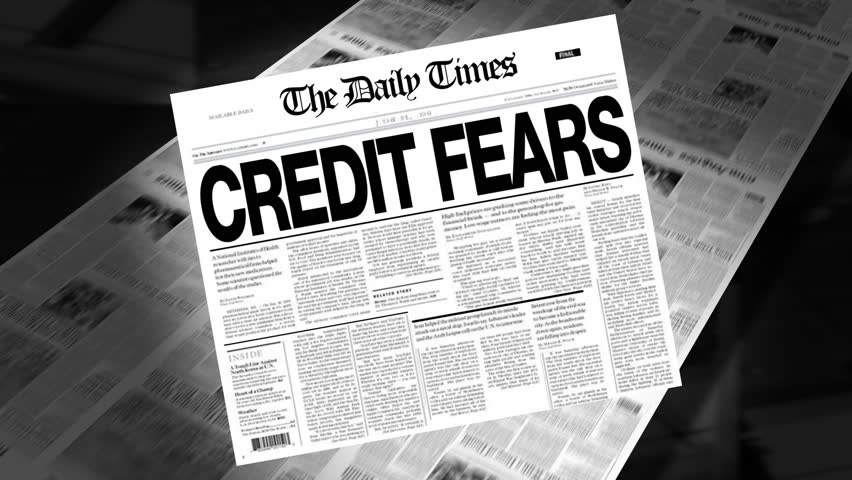 Credit Fears - Newspaper Headline Intro + Loops