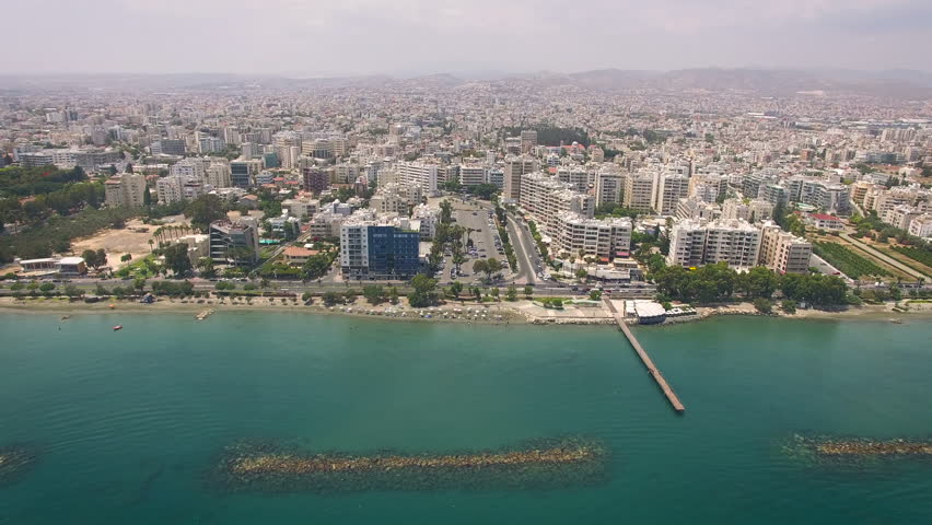 2 shots of Limassol city in Cyprus