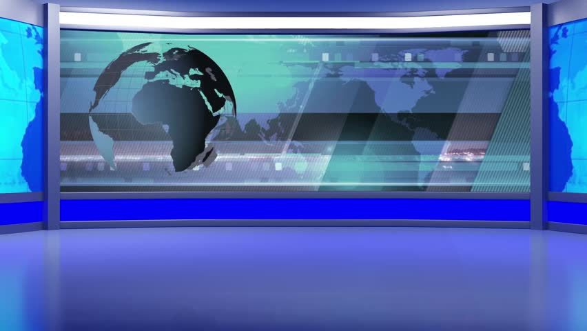 News TV Studio Set - Virtual Green Screen Background Loop