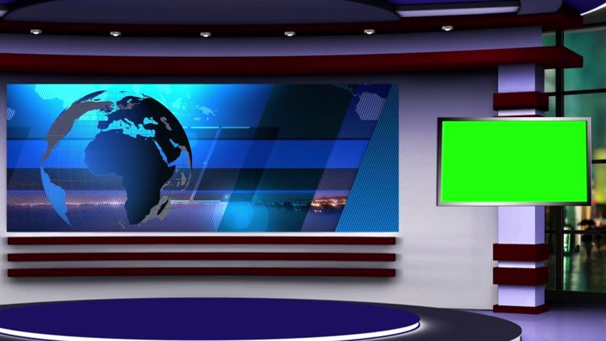 News Tv Studio Set - Stock Footage Video (100% Royalty-free) 17705359 |  Shutterstock