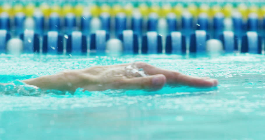 Expert swimmer trains at the pool before a race, swimming keeps you fit and is one of the sports in which they train all the muscles of the body.