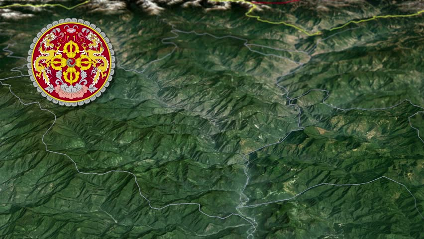 Trongsa Tongsa With Coat Of Arms Animation Map Districts Of Bhutan