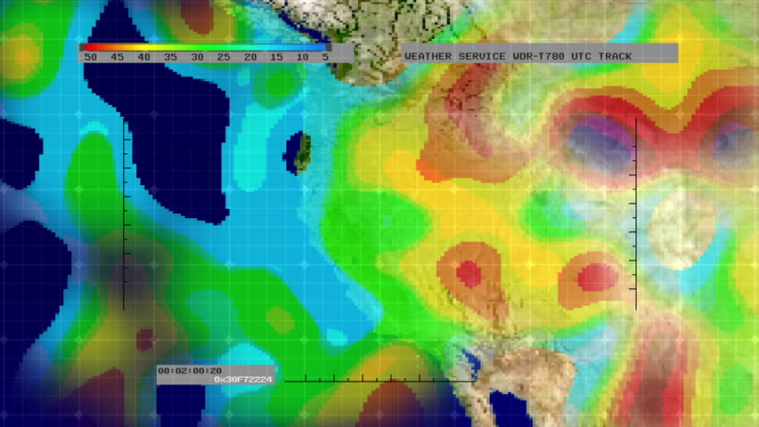 Weather Radar Digital Satellite Map Stock Footage Video 100 - Weather-map-for-western-us