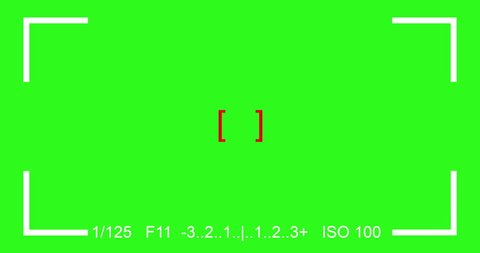 photography focus finder camera view SLR viewfinder, with chroma key green screen, with original sound effect