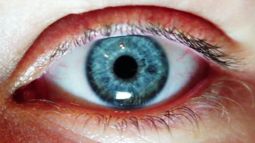 Man's Eyes Close-up