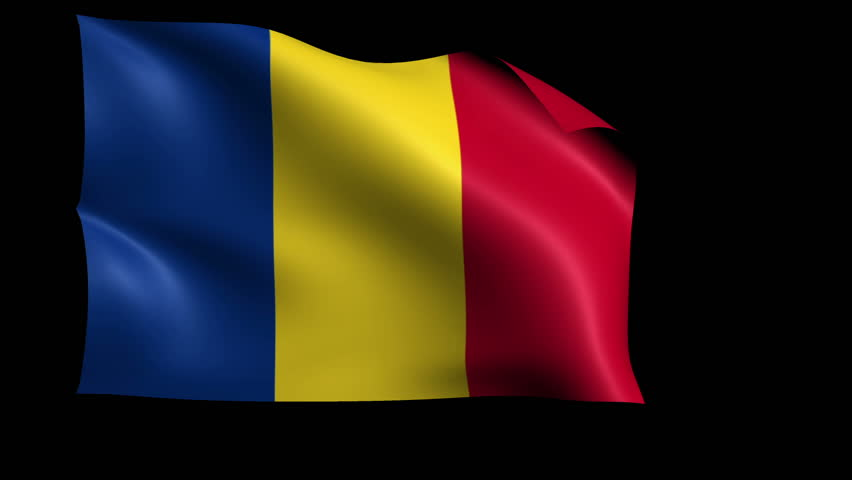 chad and romania flag
