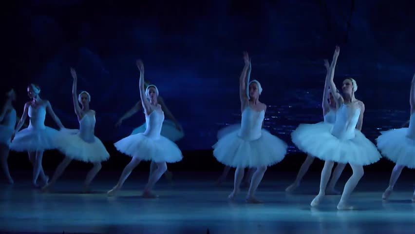 DNIPRO, UKRAINE - JUNE 12, 2016: SWAN LAKE ballet performed by members of the Dnipropetrovsk State Opera and Ballet Theatre.