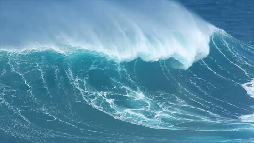 Giant Blue Ocean Wave | Shutterstock HD Video #1792649