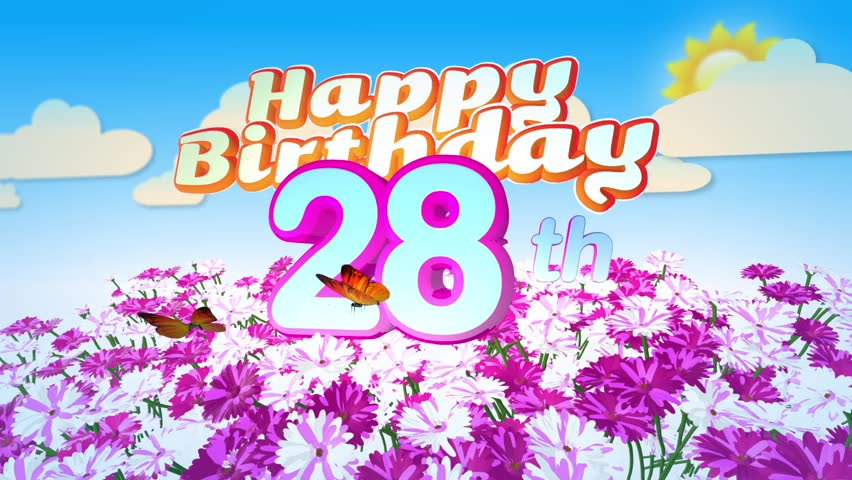 Animated Happy 20th Birthday Card Stock Footage Video 100 Royalty