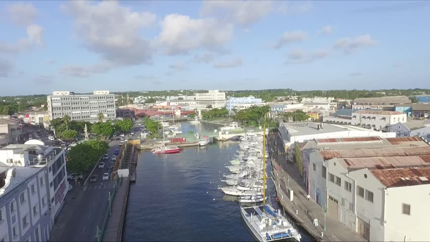 Beautiful Scenic Aerial City View of Bridgetown, Barbados in the Caribbean - 12 August 2016