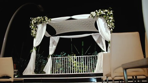Jewish traditions wedding ceremony. Wedding canopy (chuppah or huppah). A Jewish wedding takes place under a huppah, which symbolizes the new Jewish home being created by the marriage.