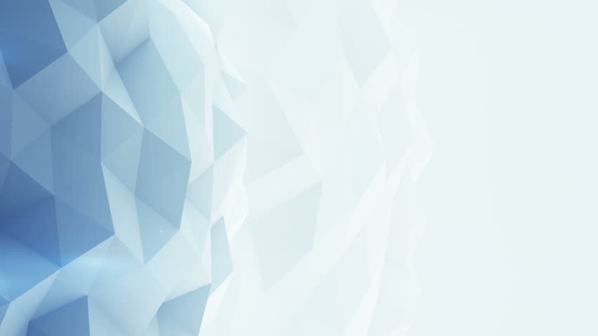 Light blue polygonal background. Abstract geometrical 3D render. Semless loop smooth animation 4k UHD (3840x2160)