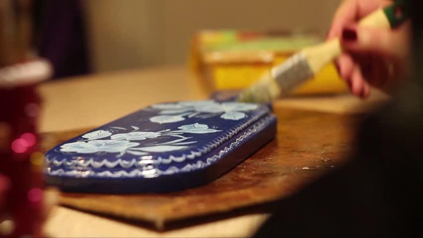 Paint a wooden Board | Shutterstock HD Video #18052819