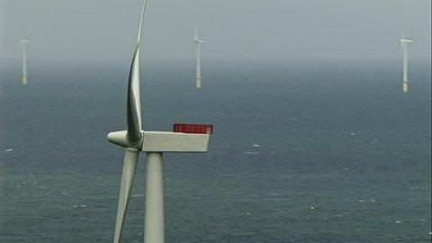 WS POV Turbines of Walney Offshore wind farm / Cumbria, England, UK(Cumbrian Coast - 39447)