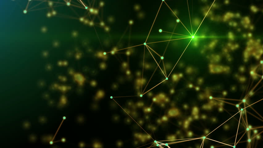 Plexus Stylish Dynamic Digital Wallpaper Lines And Dots In Organic Motion Computer Generated Footage With Depth Of Field Settings